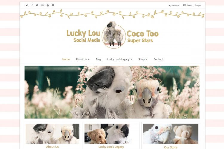 Lucky Lou Coco Too Homepage